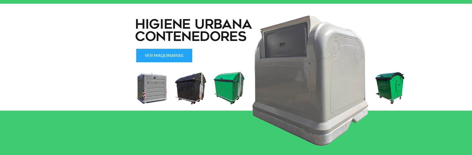 Higiene Urbana Linea de Contenedores de Basura Plasticos para Ciudades